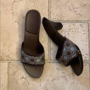 Salvatore Ferragamo wooden sandals